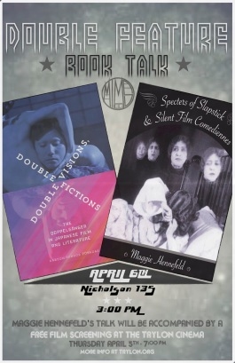 Specters of Feminist Slapstick and Double Visions Book Talk Poster